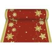 chemin de table aspect textile airlaid 24 m x 40 cm rouge just stars en roupapstar 81338