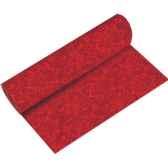 chemin de table aspect textile airlaid 24 m x 40 cm rouge ornament en roulea papstar 10620