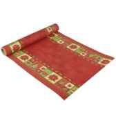 chemin de table aspect textile airlaid 3 m x 40 cm rouge christmas accents e papstar 10272