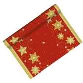 chemin de table aspect textile airlaid 3 m x 40 cm rouge just stars en roule papstar 81287