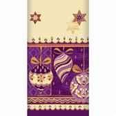 nappe aspect textile airlaid 120 cm x 180 cm lilac stars laque papstar 81289