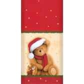 nappe aspect textile airlaid 120 cm x 180 cm lovely bear laque papstar 16339