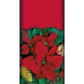 nappe aspect textile airlaid 120 cm x 180 cm naturapoinsettia laque papstar 11305