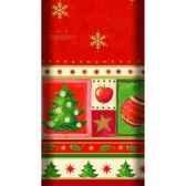 nappe aspect textile airlaid 120 cm x 180 cm rouge christmas accents laque papstar 11778