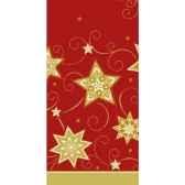 nappe aspect textile airlaid 120 cm x 180 cm rouge just stars laque papstar 81288