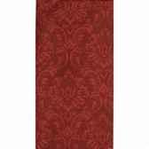nappe aspect textile airlaid 120 cm x 180 cm rouge ornament laque papstar 19798