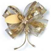 noeuds cadeaux 12 cm x 11 cm x 15 cm or papstar 80977