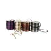 ruban de filasse 50 m couleurs assorties metallic papstar 80016