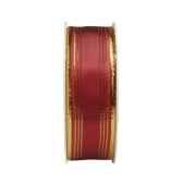 rubans avec fils metalliques 3 m x 25 mm bordeaux papstar 80438