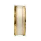 rubans avec fils metalliques 3 m x 25 mm creme papstar 80439