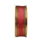 rubans avec fils metalliques 3 m x 25 mm rouge papstar 80441