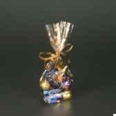 sachet de sopp 16 cm x 95 cm x 4 cm transparent sterne gold papstar 12492