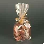sachet de sopp 27 cm x 18 cm x 7 cm transparent sterne gold papstar 12577