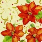 serviettes 3 plis pliage 1 4 33 cm x 33 cm christmas flower papstar 81618