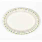 assiettes pur bois ovale 26 cm x 19 cm x 2 cm blanc duett papstar 12120