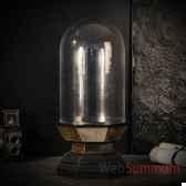 globe haut sur socle miroir objet de curiosite da151