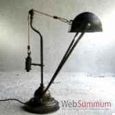 lampe de bureau a contrepoids abj arrondi cuivre objet de curiosite lu040