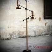 lampadaire double bras objet de curiosite lu132