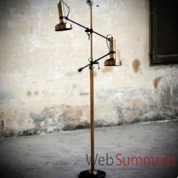 Lampadaire double bras Objet de Curiosité -LU132
