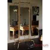 miroir triptyque laiton objet de curiosite mr020