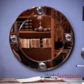 miroir rond a loupe objet de curiosite mr021