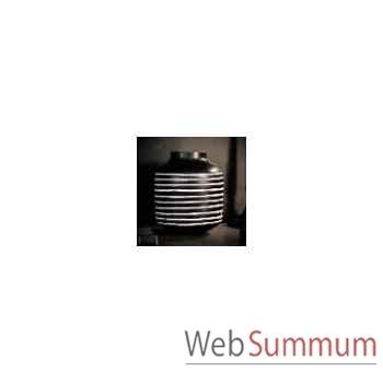 Vase chinois noir et blanc Objet de Curiosité -VA032