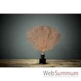 gorgone rouge sur maillechort et socle bois objet de curiosite ve029