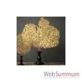 gorgone jaune gm socle bois 3 objet de curiosite ve032