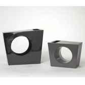 vase asymetrie argent design fdc 5093argent