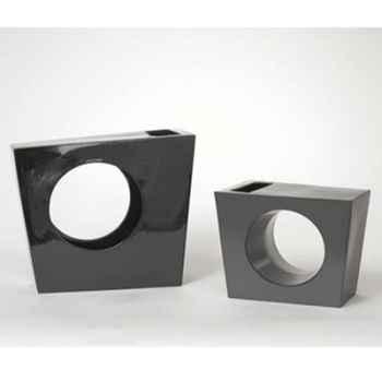 Vase Asymetrie argent Design FdC - 5093argent