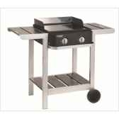 plancha first sur chariot 2 bruleurs cookingarden bg1402ptw