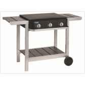 barbecue gaz mixte first 3 bruleurs sur chariot cookingarden bg1403tw