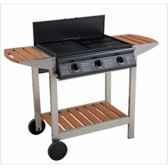 barbecue gaz mixte puerta luna 3 titane cookingarden bg313twti