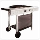 plancha gaz sur chariot plancha luna 61 cookingarden pg007t