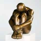polystone sculpture thinking man casablanca design 59755