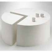 table quart de lune design fdc 4000argent