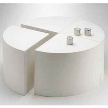 Table Quart de Lune Design FdC - 4000argent