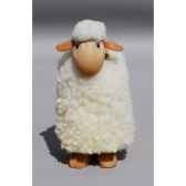 mouton caresse blanc 20 cm meier 41010