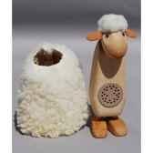mouton caresse blanc 20 cm avec baba box meier 41011