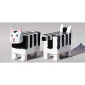 chat cubique peint a la main 32 cm meier 61900