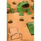 jeu de grenouille 14 trous en hetre finition cuir jorelle 9275c
