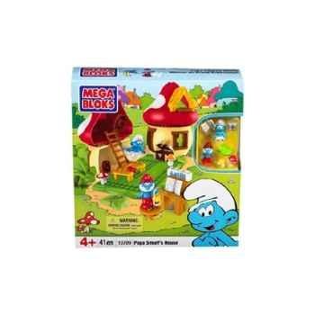 Les schtroumpfs mega bloks jeu de construction maison du grand schtroumpf Mega Brands -MEBL10709