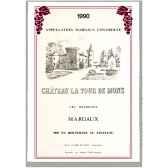 torchon imprime chateau la tour de mons margaux 1007