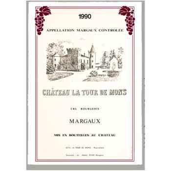 Torchon imprimé Château La Tour de Mons - Margaux -1007
