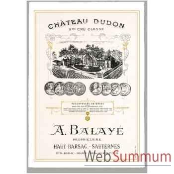 Torchon imprimé Château Dudon - Sauternes -1008