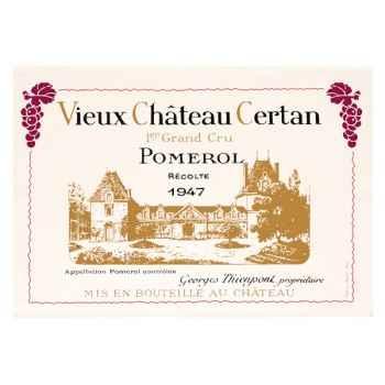 Torchon imprimé Vieux Château Certan - Pomerol -1041