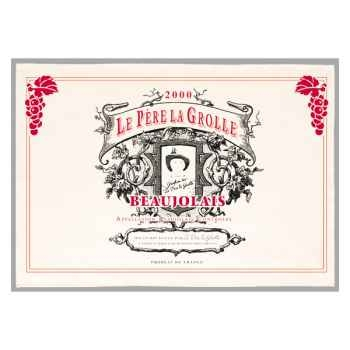 Torchon imprimé Père La Grolle - Beaujolais -1158