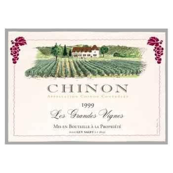 Torchon imprimé Les grandes Vignes - Chinon -1080