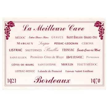 Torchon imprimé cave Bordeaux -1228