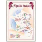torchon imprime vignoble francais 1013